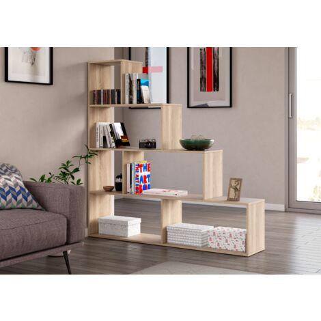 Estantería decorativa 145 cm Roble canadiense 6 estantes | Roble Canadian
