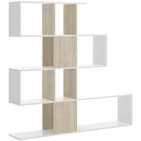 Estantería Decorativa. Ideal para Oficina, habitación o salón Comedor, Dimensiones: 145 cm Ancho, 145 cm Alto, 29 cm Fondo.