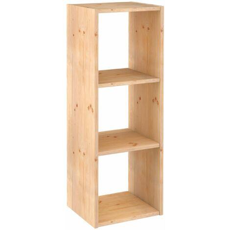 Estantería Dinamic modular con 3 cubos de madera maciza de pino 105,4x36,2x33cm
