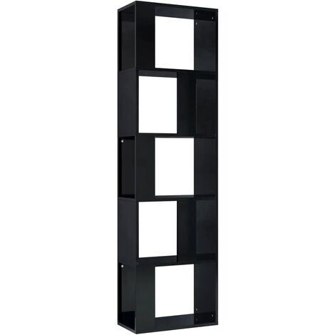Estantería/divisor espacio aglomerado gris brillo 45x24x159 cm