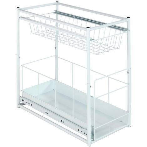Estantería extraíble con 2 compartimentos para armarios WENKO
