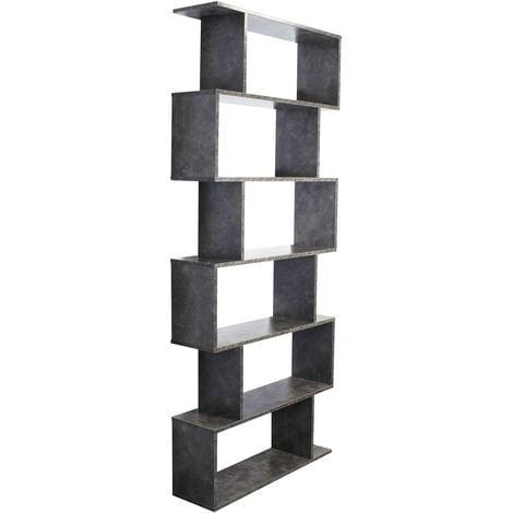 Estantería forma-S 6 Huecos Gris cemento Librería Separador ambientes Muebles Decoración Almacenaje