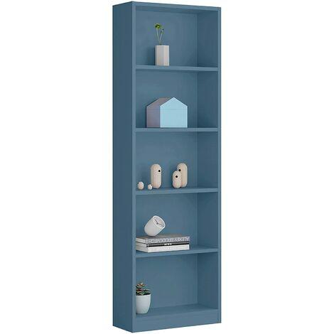 Estantería Inafntil 6 baldas, Acabado Azul, Medidas: 180 cm (Alto) x 52 cm (Ancho)