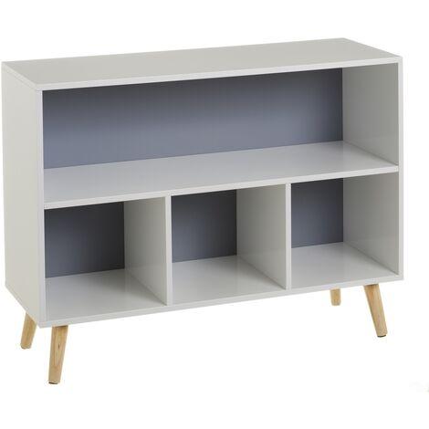 Estantería infantil moderna gris de madera de 58x28x78 cm