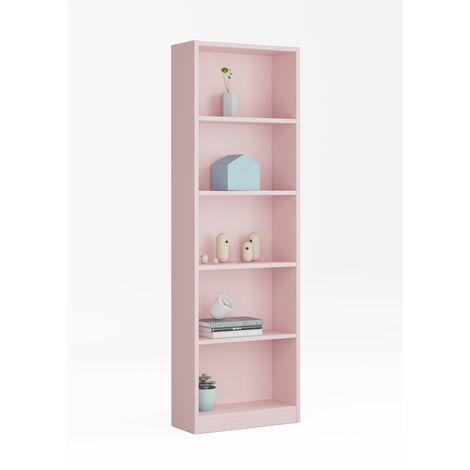 Estantería -Infantil- Rosa 52x180x25 cm