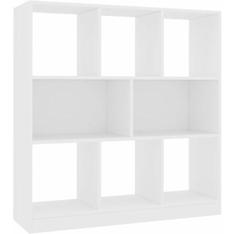 Estantería librería de aglomerado blanco 97,5x29,5x100 cm