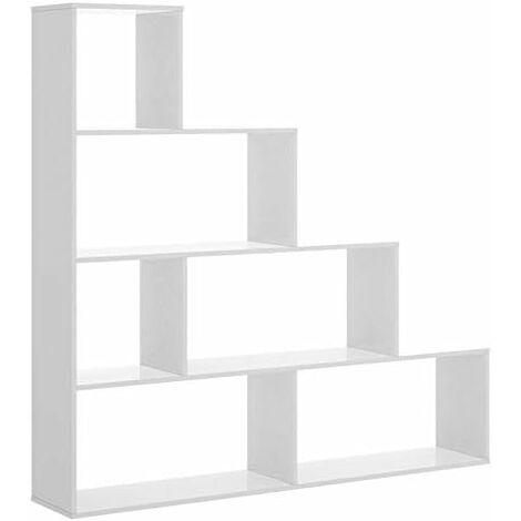 Estantería Librería Moderna Blanco Brillo, medida 145 x 145 x 29 cm