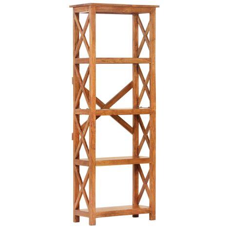 Estantería madera acacia maciza acabado sheesham 60x30x180 cm - Marrón