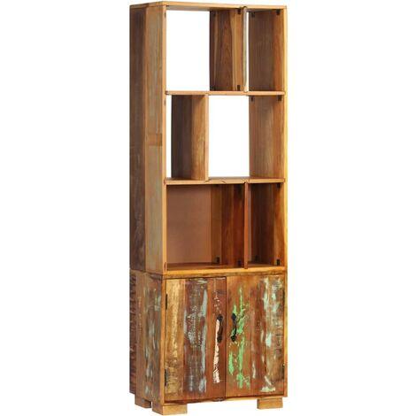 Estantería madera maciza reciclada 60x35x180 cm - Multicolor