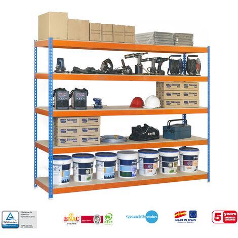 ESTANTERIA MEDIA CARGA SIMONFORTE CHIPBOARD 1507-5 2500 AZ/NAR/MAD 2500x1500x750mm