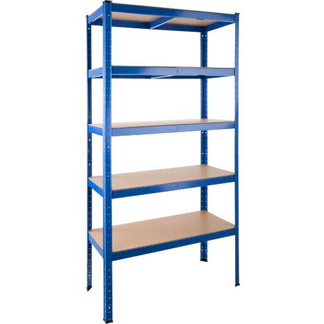 Estantería metálica 5 baldas - estantería metálica de acero, estantes ajustables de metal para trastero, anaqueles con esquinas redondeadas