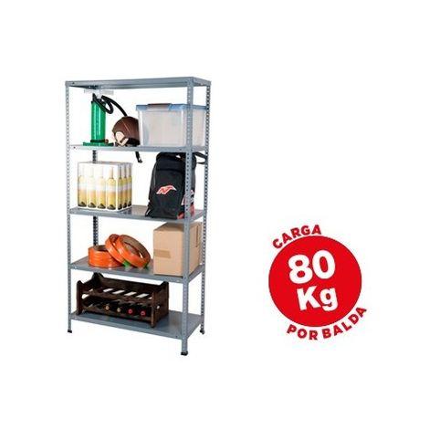 Estanteria metalica ar storage 180x90x40 cm 5 estantes 80 kg por estante color gris