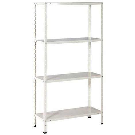 "main image of ""Estantería metálica blanca de 4 estantes Ironside"""