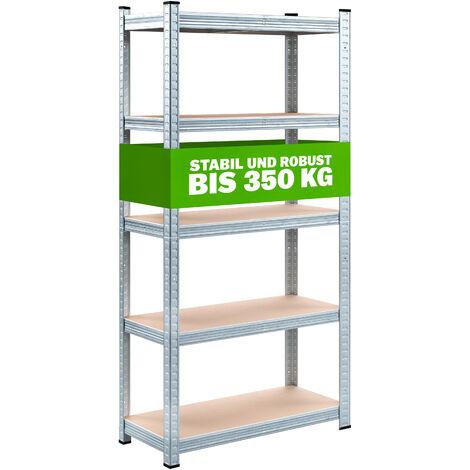 Estanteria metalica estantes estanteria de almacenamiento garaje almacen taller 5 Böden - 170x75x30cm (de)
