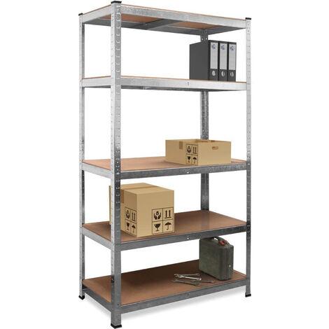 Estantería metálica estantes estanteria de almacenamiento garaje almacen taller para cargas pesadas 5 estantes