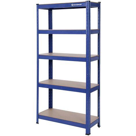Estantería metálica para almacenar de pie 5 estantes 650kg/1325kg, de pei 4 estantes 520kg