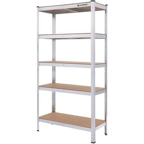 Estantería metálica para almacenar de pie 5 estantes 875kg 180 x 90 x 40cm