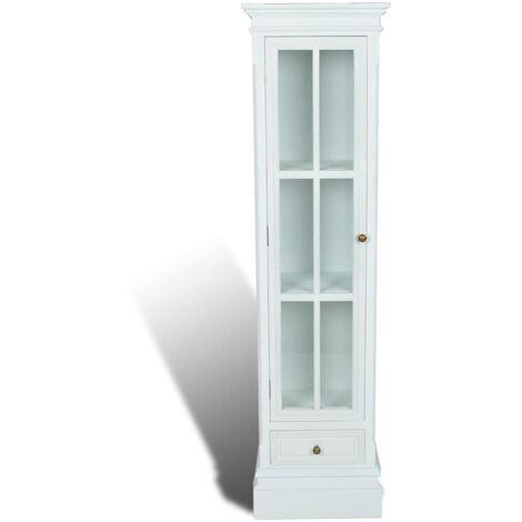Estantería moderna con 3 estantes de madera blanca