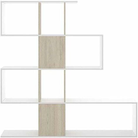 Estantería moderna en forma de zig zag roble Natural 145x145x29 cm