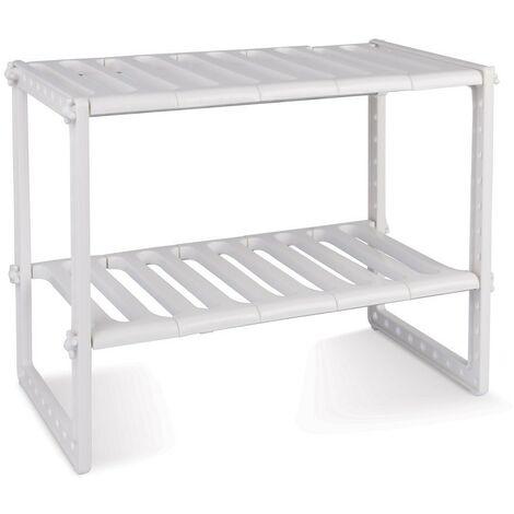 Estantería modular de 2 niveles para interior armarios y muebles