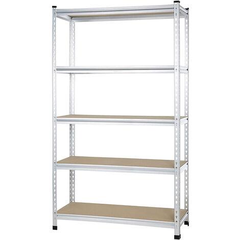 Estantería modular de metal para cargas pesadas con 5 estantes