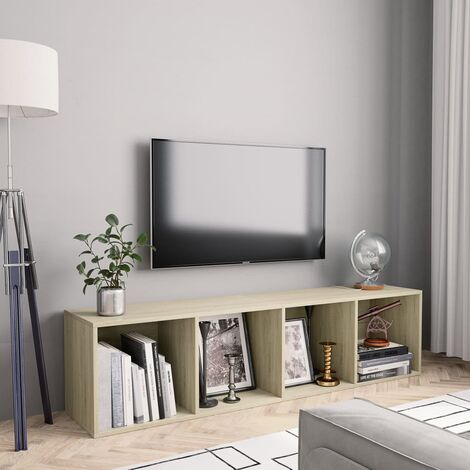 Estanteria/mueble para TV color roble Sonoma 143x30x36 cm