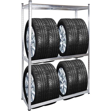 Estantería neumáticos 180x120x40cm Almacenaje ruedas automóvil coche cargas pesadas Taller Garaje