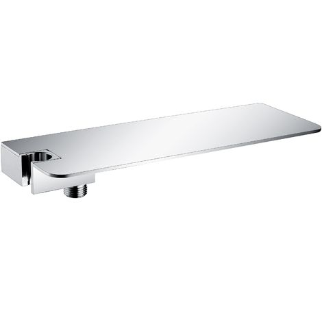 Estantería organizativa para la ducha DS40 con codo de pared y soporte para la ducha de mano