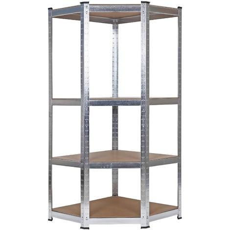 Estantería para cargas pesadas de esquina Estantería para trastero almacén garaje taller Estantes