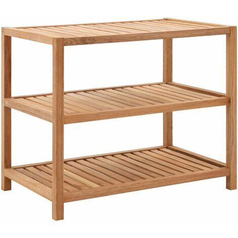 Estantería para el baño de madera maciza de nogal 65x40x55 cm
