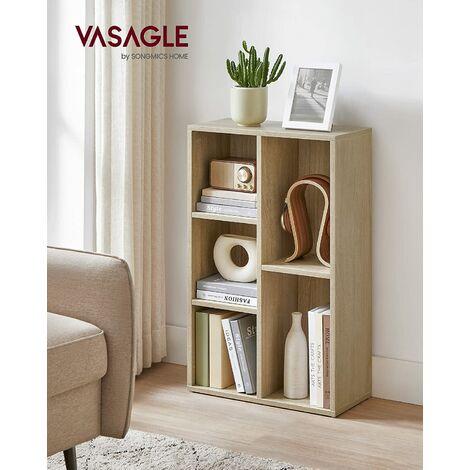 Estantería para Libros con 5 Compartimientos Estantería de Archivo Estante de Pared Estantería de pie 50 x 24 x 80cm