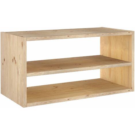 Estantería rectangular con balda Dinamic de madera maciza de pino 36,2x70,8x33cm