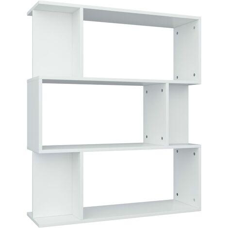 Estantería/separador de ambientes aglomerado blanco 80x24x96 cm
