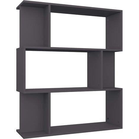 Estantería/separador de ambientes aglomerado gris 80x24x96 cm