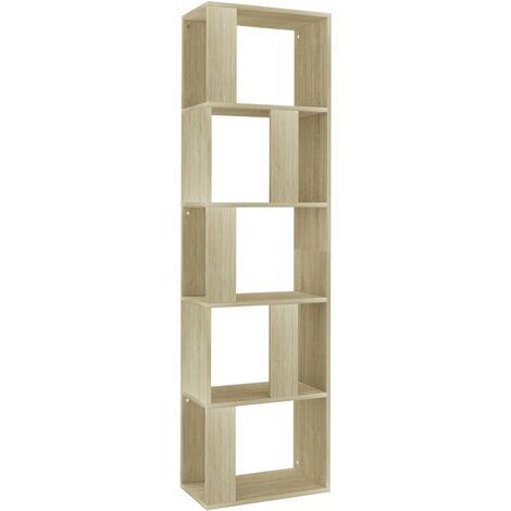 Estantería/separador de ambientes aglomerado Sonoma 45x24x159cm