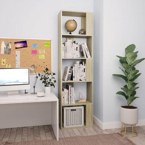 Estanteria/separador de ambientes aglomerado Sonoma 45x24x159cm