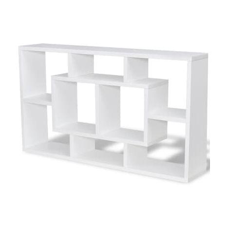 Estanteria suspendida con 8 compartimentos, color blanco