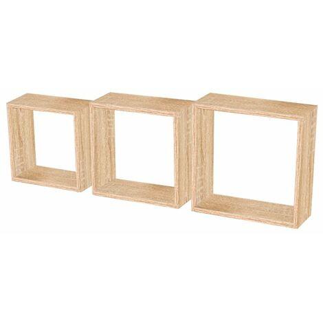 Estantería triple estantes forma de cubo