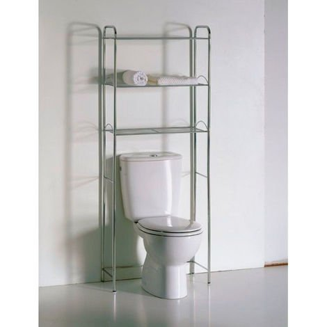 Estantería WC cromo 3 estantes baño