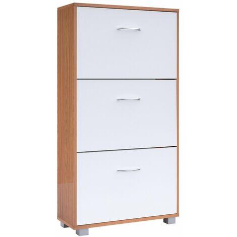 Estantería Zapatero armario con 3 estantes amplio moderno 2 colores a elegir