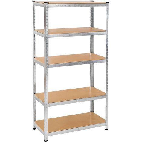 Estanterías de chapa de acero - estantería metálica de acero, estantes ajustables de metal para trastero, anaqueles con esquinas redondeadas