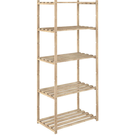 Estanterías madera de pino 65x30x171