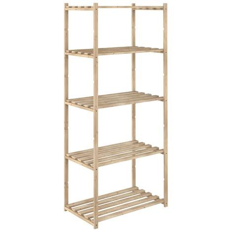 Estanterías madera de pino 65x40x171