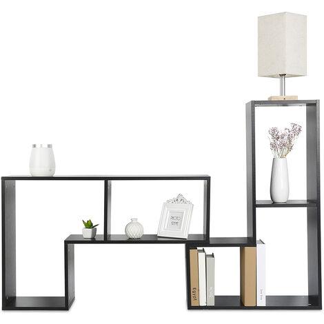 Estanterías Negros para Pared Madera Estante Flotante Pared DIY---|mueble de TV |mesa de café |estantería|