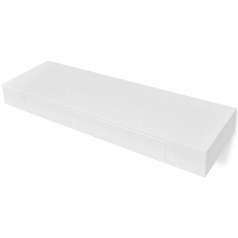 Estantes de pared flotantes con cajones 2 uds blanco 80 cm