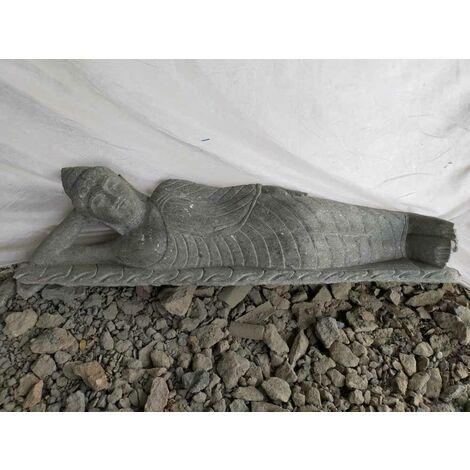 Estatua de jardín Buda tumbado de piedra natural 150cm