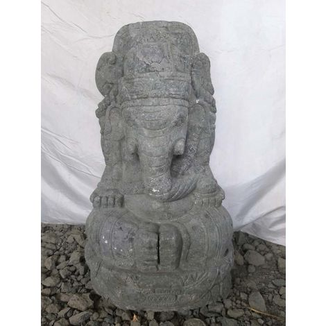 Estatua de jardín de piedra de lava GANESH hinduismo 80 cm