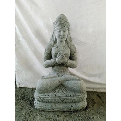 Estatua de jardín Diosa balinesa flor 80 cm