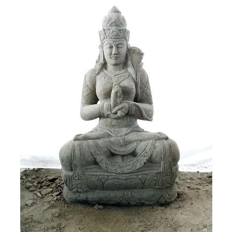 Estatua dios balinesa chakra exterior zen piedra natural 120 cm