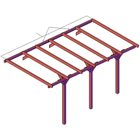 ESTENSIONE per Carport - tettoia per auto 274,5 x 520 cm in legno impregnato classe 3